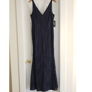 lulus navy lace maxi dress